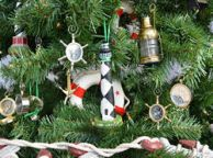 Cape Lookout Lighthouse Christmas Tree Ornament